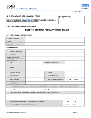Fillable Online Please fill in the Application form and check it ...