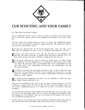 cub scouting and your family form