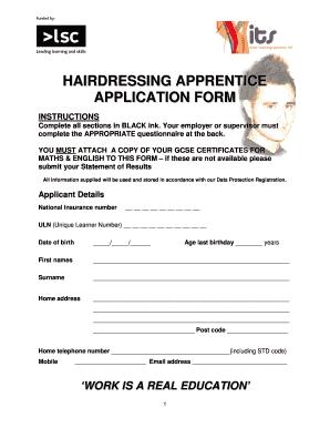 Apprenticeship Form Format - Fill Online, Printable ...