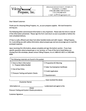 New Customer Packet - Viking Propane, Inc.