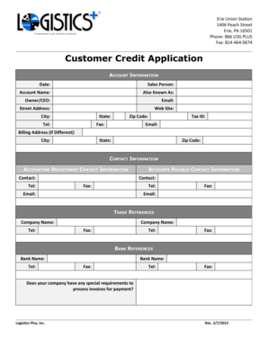 122 printable business credit application forms and templates