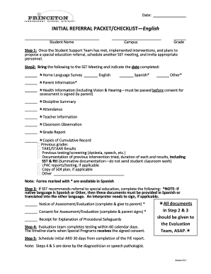 Princeton Isd Sst Forms - Fill Online, Printable, Fillable