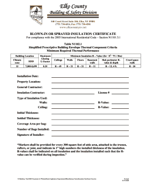 Insulation Certificate - Fill Online, Printable, Fillable, Blank ...
