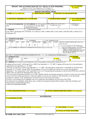 Dd Form 1610 Example Dolap Magnetband Co