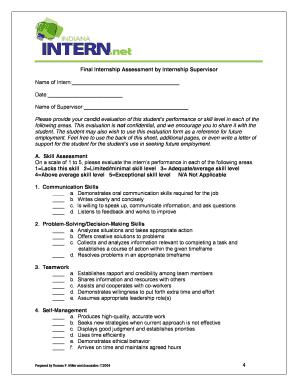 Intern Assessment Form - Fill Online, Printable, Fillable, Blank ...