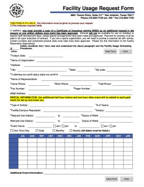 Fillable online neisd facility usage request form north east fill online altavistaventures Gallery