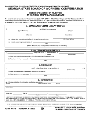 Fillable Georgia Form Wc 10 - Fill Online, Printable, Fillable ...