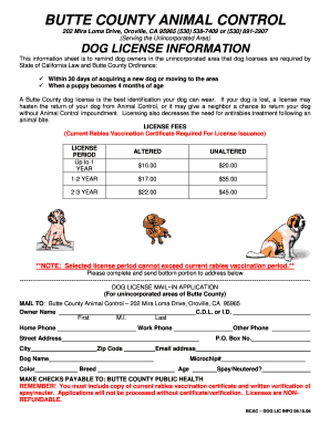 chico animal control form