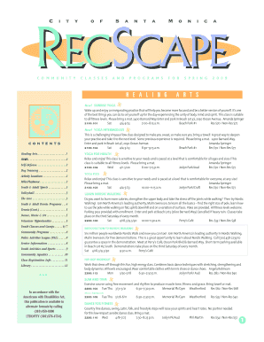 recscape fall schedule form
