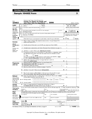 Sample 1040ez form bing images for 1040ez 2010 tax table