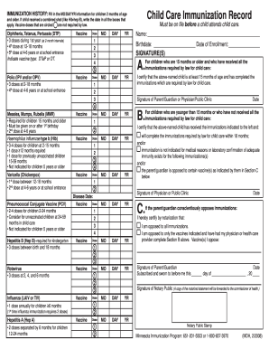 Minnesota Vaccination - Fill Online, Printable, Fillable, Blank ...