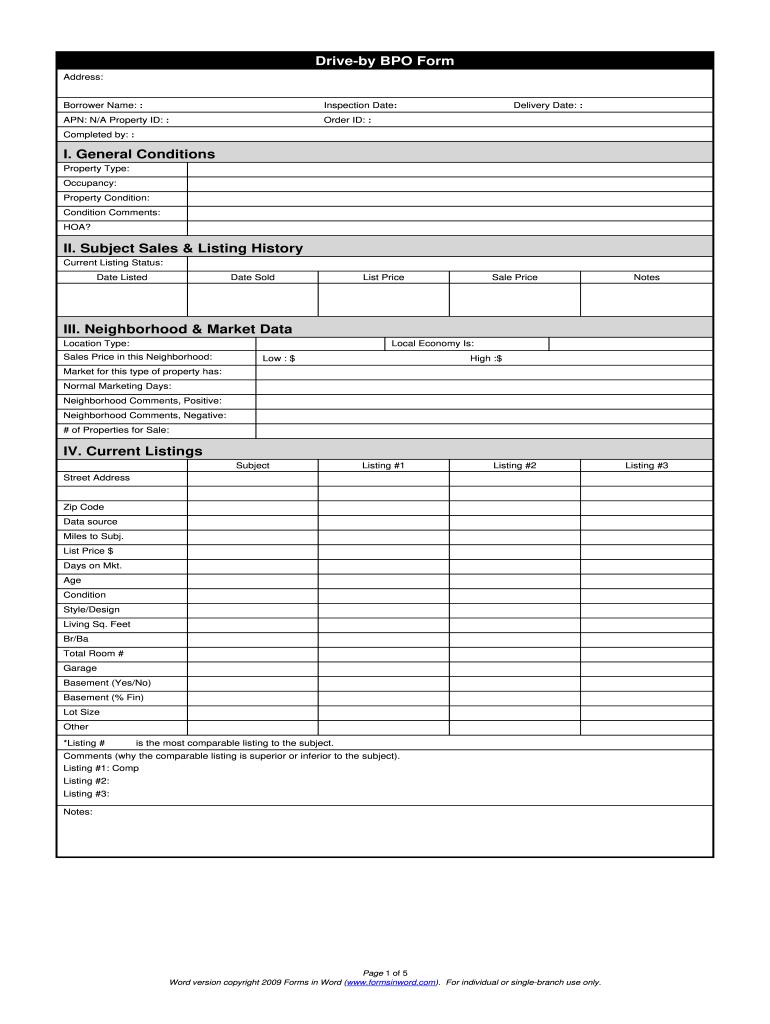 Bpo Form Fill Online Printable Fillable Blank Pdffiller
