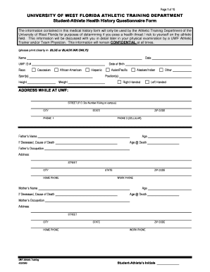 bill of sale form florida medical history and release form for
