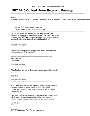Outlook Phone Message Template Form Using 2010