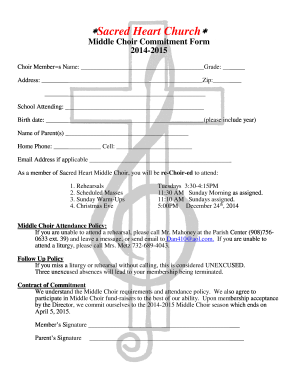 Choir membership application form fill online printable choir membership application form thecheapjerseys Choice Image