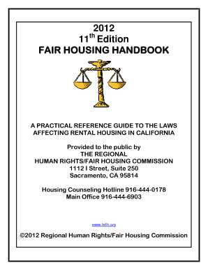 Fair Housing Handbook Sacramento Ca - Fill Online, Printable