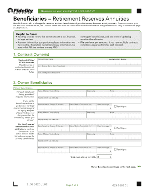 Nanny Share Contract Beneficiary Form For Retirement Reserves NY PDF