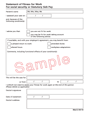 Med 3 Form Fill Online Printable Fillable Blank