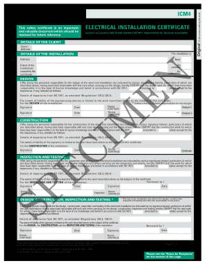 electrical installation certificate editable pdf