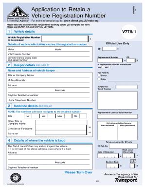 V778 Retention Document - Fill Online, Printable, Fillable ...