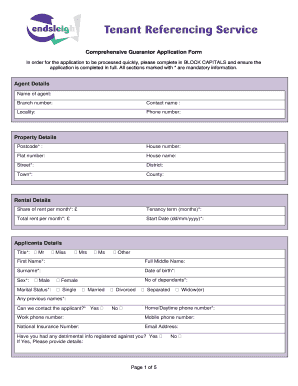 Guarantor form of school fill online printable fillable blank guarantor form of school altavistaventures Image collections