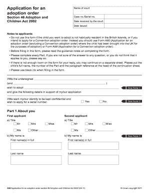image relating to Free Printable Adoption Papers referred to as 17 Printable printable adoption papers Kinds and Templates