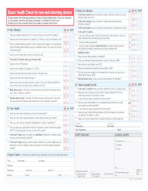 Blood Donation Questionnaire Ukpdffillercom - Fill Online ...