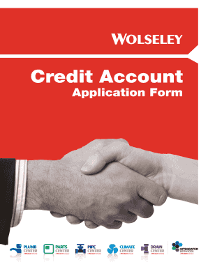 wolseley credit application form