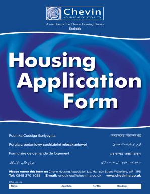 chevin housing application form