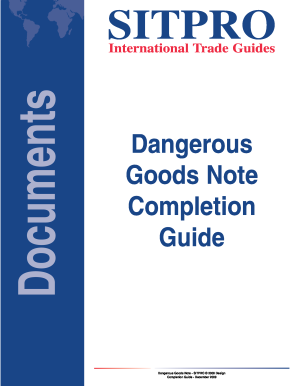 Sitpro dangerous goods note pdf to word