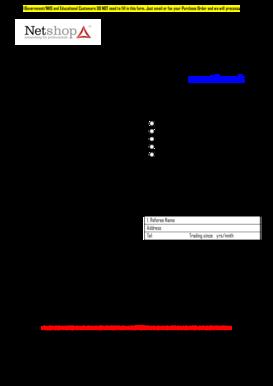 free credit application form pdf