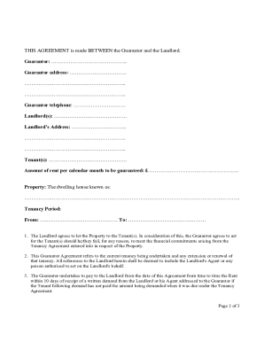 Guarantors form fill online printable fillable blank pdffiller guarantors form altavistaventures Gallery