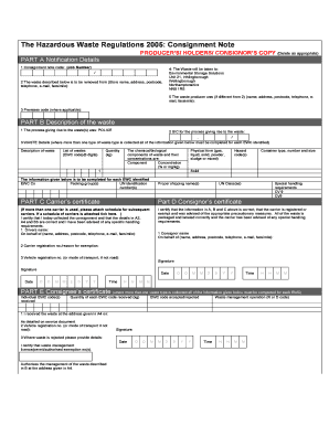 Consignment Note Template - Fill Online, Printable, Fillable, Blank ...