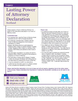 lasting power of attorney uk form