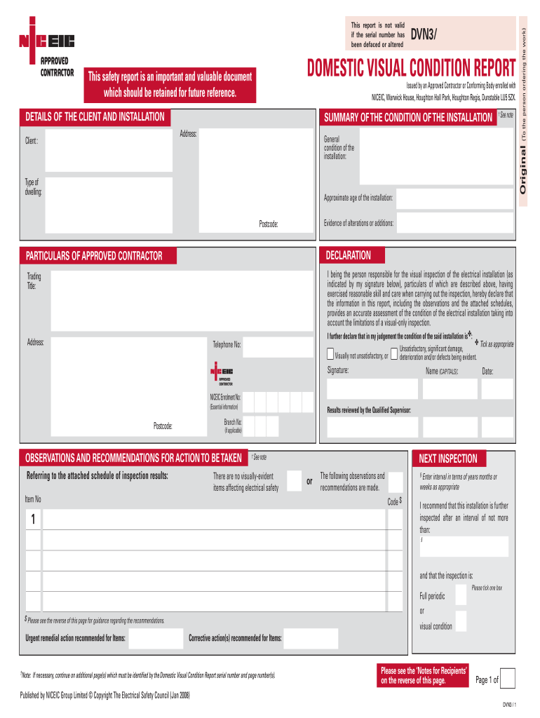 Electrical Inspection Template - Fill Online, Printable, Fillable Inside Property Condition Assessment Report Template