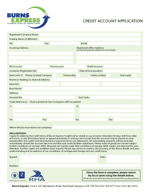 Download our Application Form - Burns Express