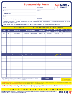 28 Printable Athletic Sponsorship Letter Forms and Templates