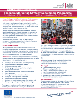 The India Marketing Strategy Scholarship Programme