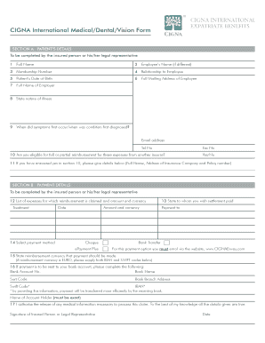 cigna international to Download in Word & PDF - Editable ...
