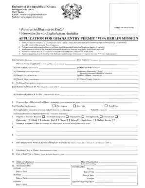 Ghana Visa Application Form New York Fill Online Printable Fillable Blank Pdffiller