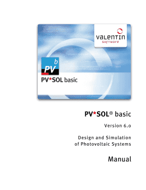 Manual PV*SOL basic 6.0 - Valentin Software