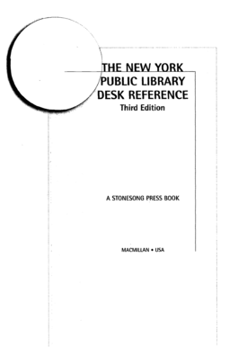 Thf nfw york public library desk reference - GBV - gbv