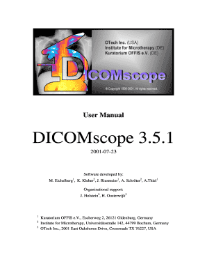 User Manual - DICOMscope 3.5.1 - DICOM Offis