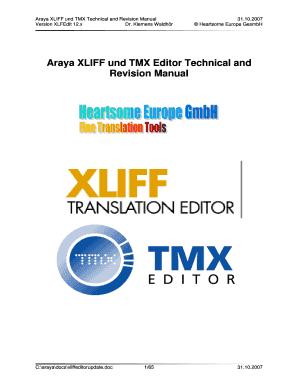 Xliff Editor Online - Fill Online, Printable, Fillable