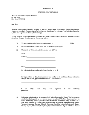 Fillable bank of america certificate of trust form - Edit, Print