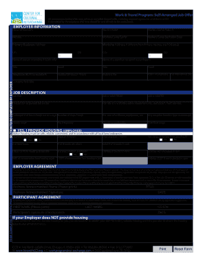 Cci Self Arranged Job Offer - Fill Online, Printable, Fillable ...