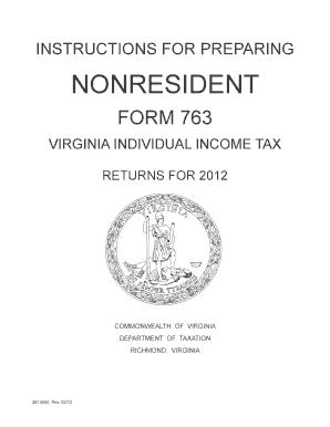 Iructins For Preparing Nonresident Form 763 Virginia - Fill Online ...