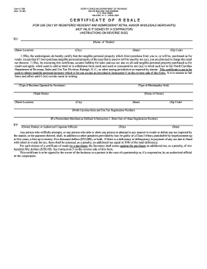 resale certificate nc Nc Certificate Resale - Fill Online, Printable, Fillable, Blank ...