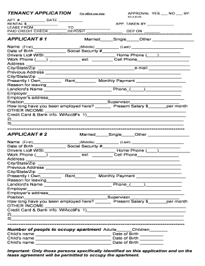 16 Printable Rental Application Pdf Fillable Forms And Templates