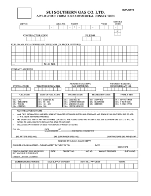 Sui Gas Application Check - Fill Online, Printable, Fillable ...